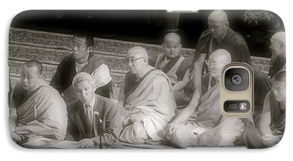 Galaxy Case featuring the photograph Tibetan Monks by Kate Purdy