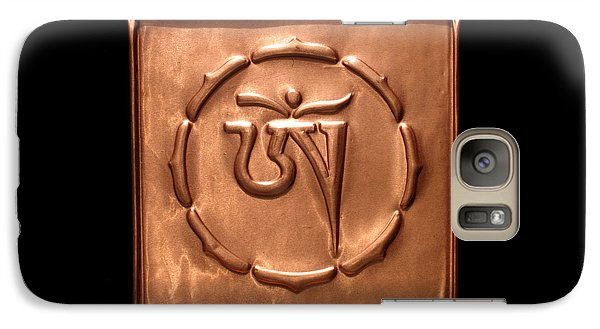 Galaxy Case featuring the relief Tibetan Om by Suhas Tavkar