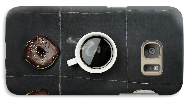 Galaxy Case featuring the photograph Tic Tac Toe Donuts And Coffee by Stephanie Frey