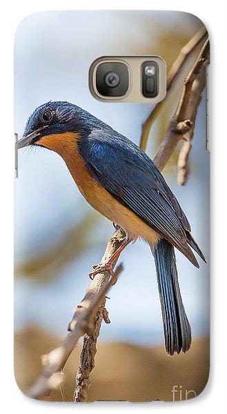 Tickells Blue Flycatcher, India Galaxy S7 Case