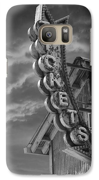 Galaxy Case featuring the photograph Tickets Bw by Laura Fasulo