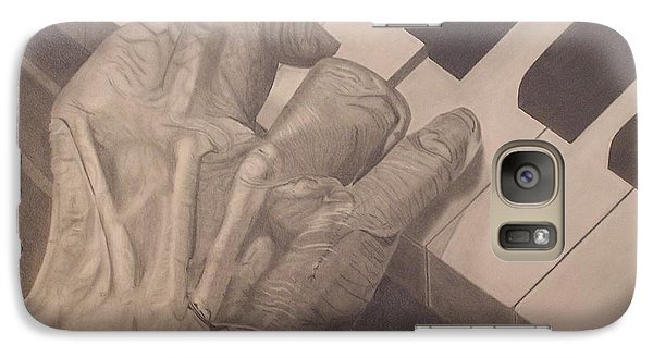 Galaxy Case featuring the drawing Tickling The Ivory by Wil Golden