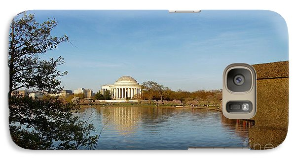 Tidal Basin And Jefferson Memorial Galaxy Case by Megan Cohen