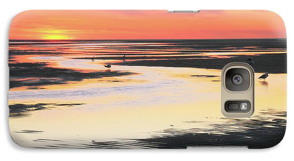 Galaxy Case featuring the photograph Tidal Flats At Sunset by Roupen  Baker