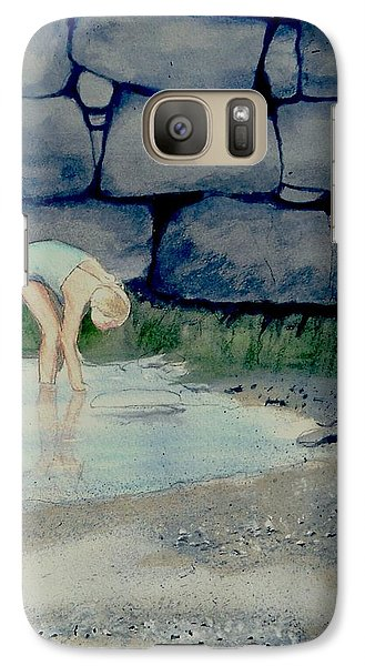 Galaxy Case featuring the painting Tidal Pool Treasures by Anthony Ross