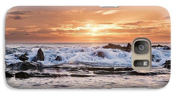 Galaxy Case featuring the photograph Tidal Sunset by Heather Applegate