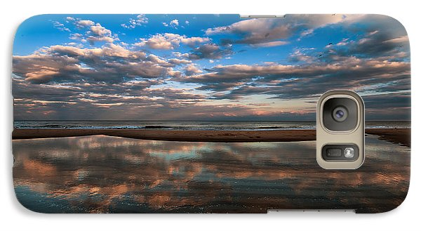 Galaxy Case featuring the photograph Tide Pool Reflections by Jim Moore
