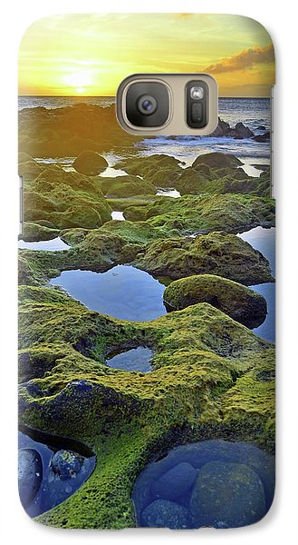 Galaxy Case featuring the photograph Tide Pools At Sunset by Tara Turner