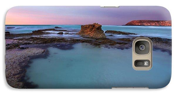 Tidepool Dawn Galaxy Case by Mike  Dawson