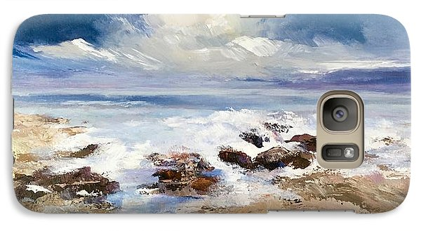Galaxy Case featuring the painting Tidepool by Helen Harris