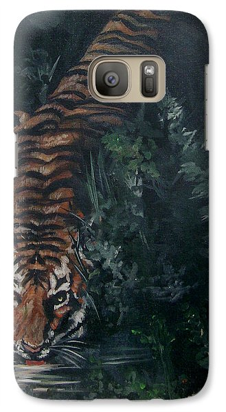 Galaxy Case featuring the painting Tiger by Bryan Bustard