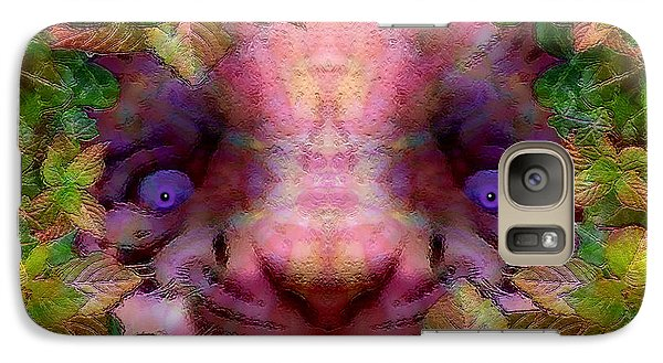 Galaxy Case featuring the photograph Tiger Cub by Barbara Tristan