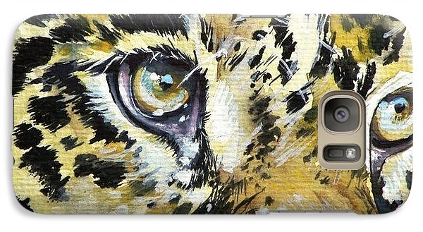 Galaxy Case featuring the painting Tiger Eyes by Kovacs Anna Brigitta