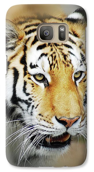 Galaxy Case featuring the photograph Tiger Eyes by Michael Peychich