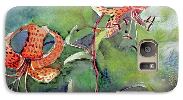 Galaxy Case featuring the painting Tiger Lilies by Mindy Newman