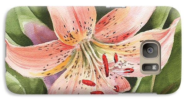 Lily Galaxy S7 Case - Tiger Lily Watercolor By Irina Sztukowski by Irina Sztukowski