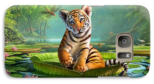 Tiger Lily Galaxy S7 Case by Jerry LoFaro
