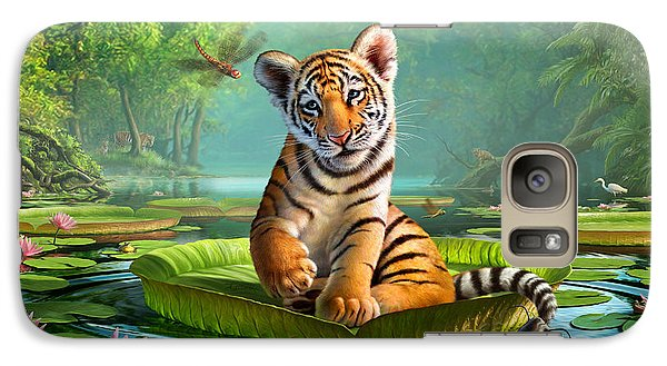 Catfish Galaxy S7 Case - Tiger Lily by Jerry LoFaro