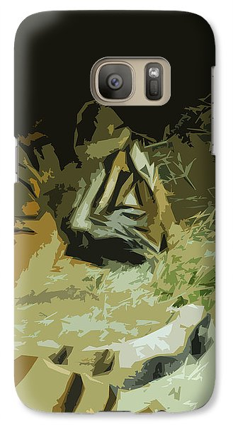 Galaxy Case featuring the photograph Tiger by Maggy Marsh