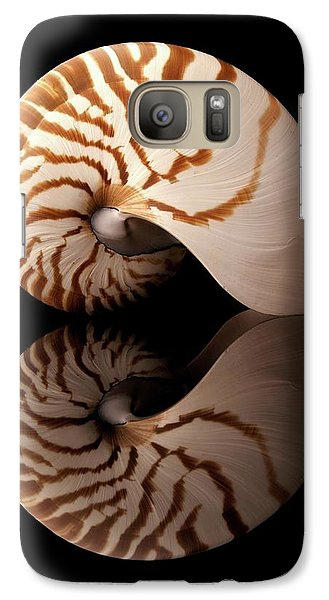 Galaxy Case featuring the photograph Tiger Nautilus Shell And Reflection by Jim Hughes