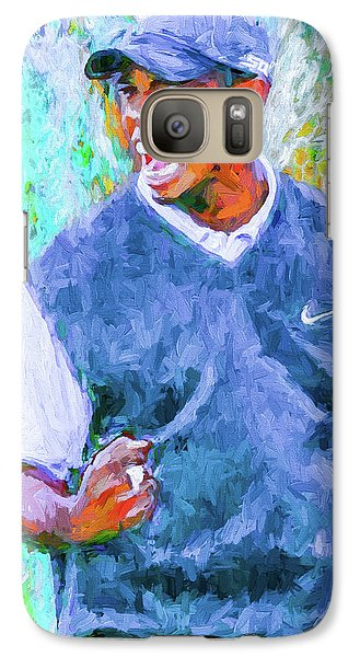 Galaxy Case featuring the photograph Tiger One Two Three Painting Digital Golfer by David Haskett