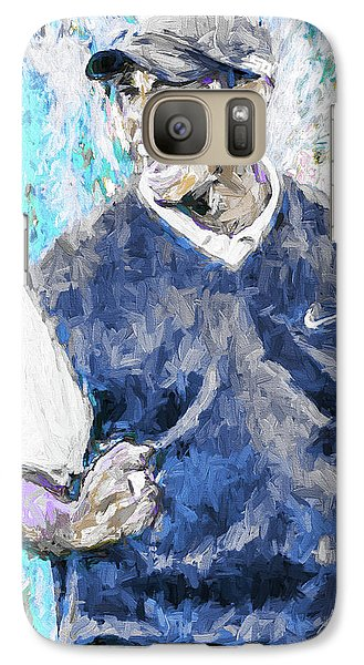 Galaxy Case featuring the photograph Tiger Says 2 Painting Digital Golf by David Haskett
