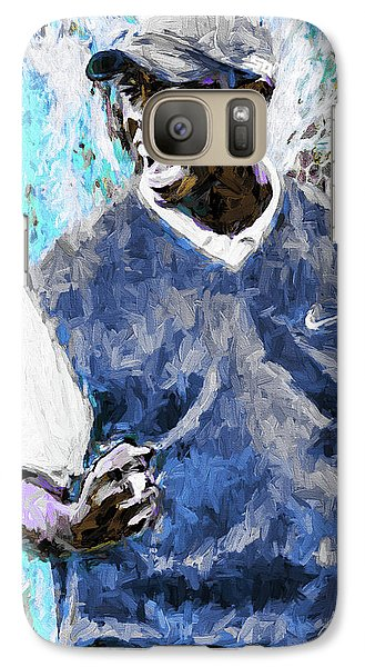 Galaxy Case featuring the photograph Tiger Says Digital Painting Golf by David Haskett