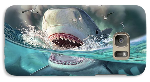 Seagull Galaxy S7 Case - Tiger Sharks by Jerry LoFaro