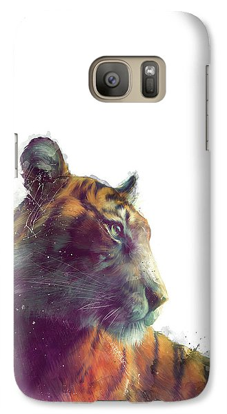 Tiger // Solace - White Background Galaxy S7 Case