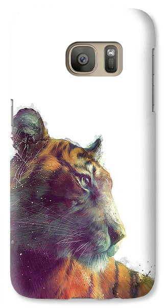 Tiger // Solace - White Background Galaxy S7 Case by Amy Hamilton