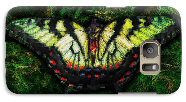 Galaxy Case featuring the photograph Tiger Swallowtail by Iowan Stone-Flowers