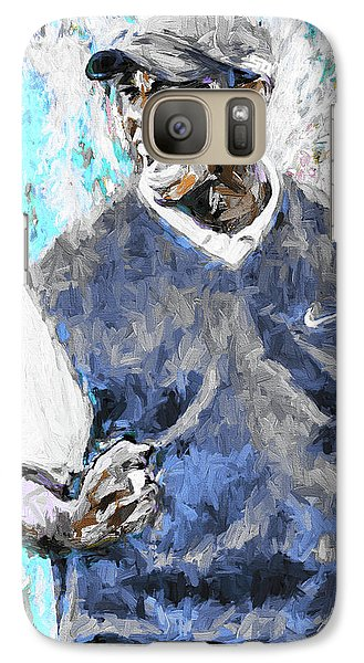 Galaxy Case featuring the photograph Tiger Woods One Blue Golfer Digital Art by David Haskett