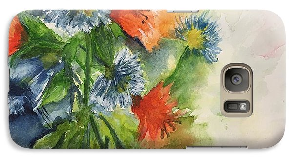 Galaxy Case featuring the painting Tigerlilies And Cornflowers by Lucia Grilletto