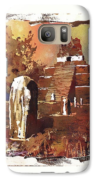 Galaxy Case featuring the painting Tikal Mayan Ruins- Guatemala by Ryan Fox