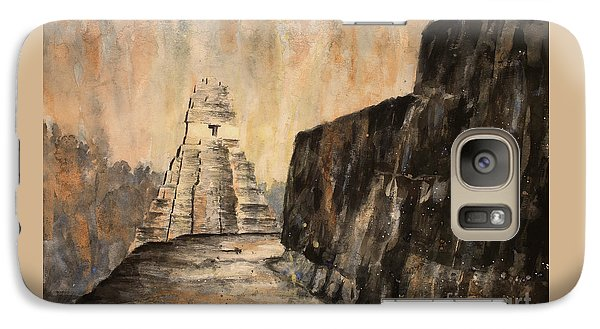Galaxy Case featuring the painting Tikal Ruins- Guatemala by Ryan Fox