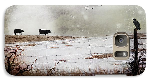 Galaxy Case featuring the photograph 'til The Cows Come Home by Theresa Tahara