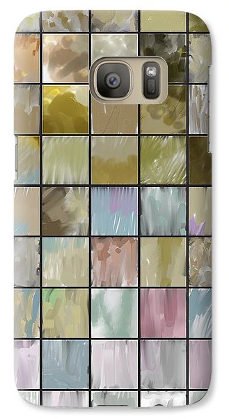Galaxy Case featuring the painting Tiles by John Norman Stewart