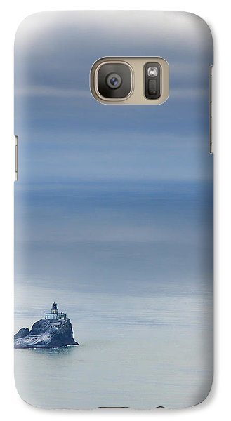 Galaxy Case featuring the photograph Tillamook Rock Lighthouse by Don Schwartz