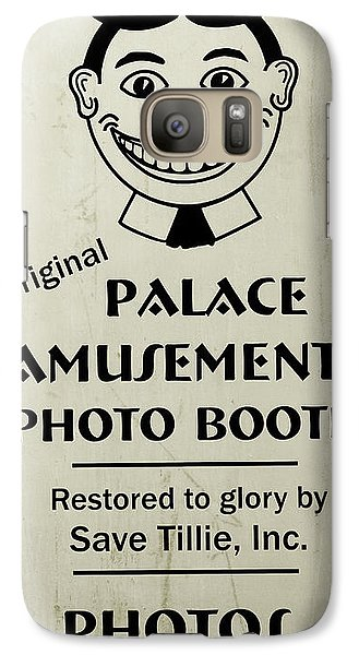 Galaxy Case featuring the photograph Tillie Photo Booth Sign by Colleen Kammerer