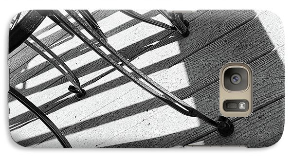 Galaxy Case featuring the photograph Tilt Two Black And White Photograph by Ann Powell