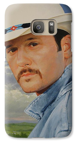 Galaxy Case featuring the painting Tim Mcgraw by Cliff Spohn