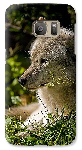 Galaxy Case featuring the photograph Timber Wolf Portrait by Michael Cummings