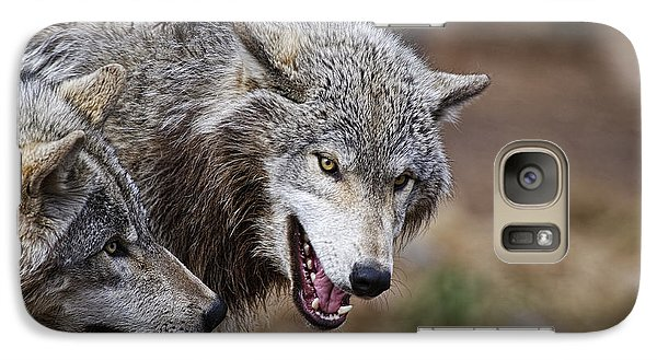 Galaxy Case featuring the photograph Timber Wolves by Michael Cummings