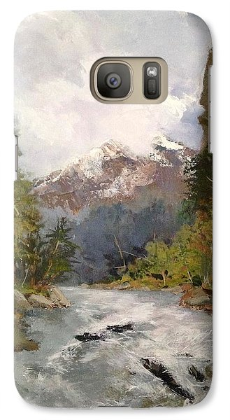 Galaxy Case featuring the painting Timberlands by Helen Harris