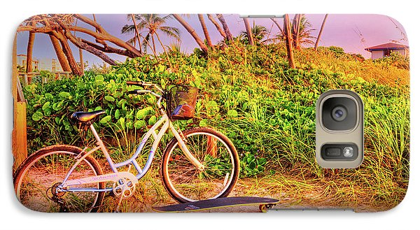 Galaxy Case featuring the photograph Time For Beach Fun by Debra and Dave Vanderlaan