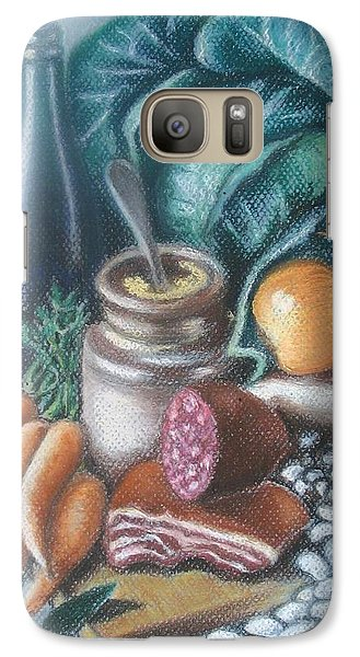 Galaxy Case featuring the painting Time For Soup by Inese Poga