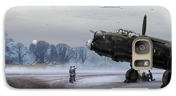 Galaxy Case featuring the photograph Time To Go - Lancasters On Dispersal by Gary Eason