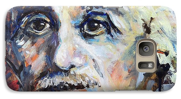 Galaxy Case featuring the painting Time To Think by Mary Schiros