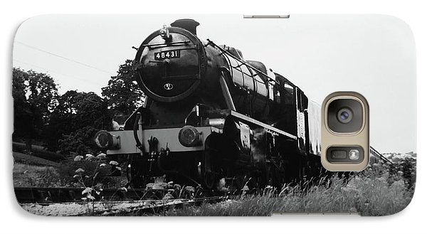 Galaxy Case featuring the photograph Time Travel By Steam B/w by Martin Howard