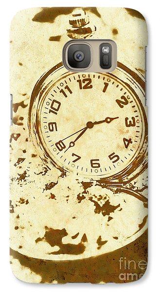 Time Worn Vintage Pocket Watch Galaxy S7 Case